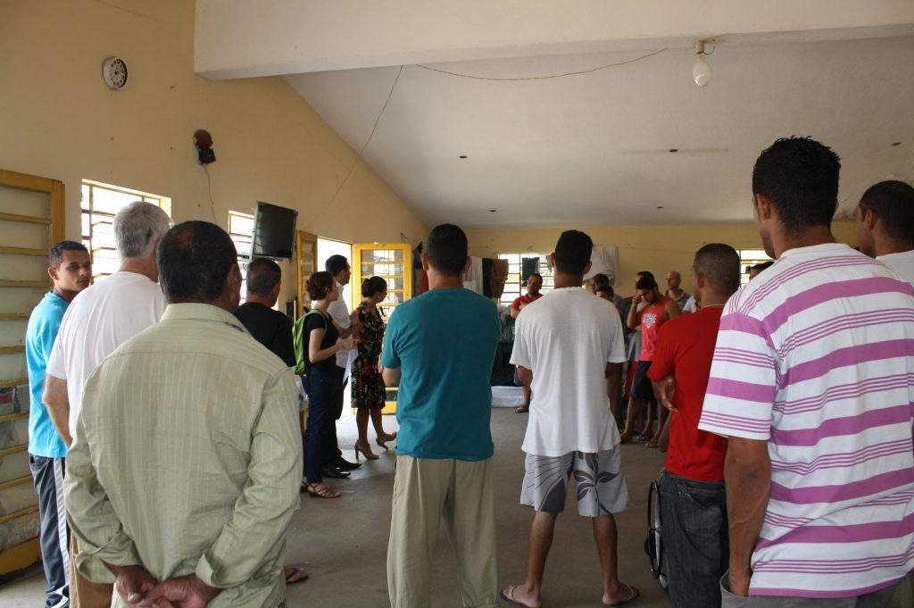 Encontro realizado na Ala de Progressão Penitenciaria do Centro de Detenção Provisória Chácara Belém II (2014).