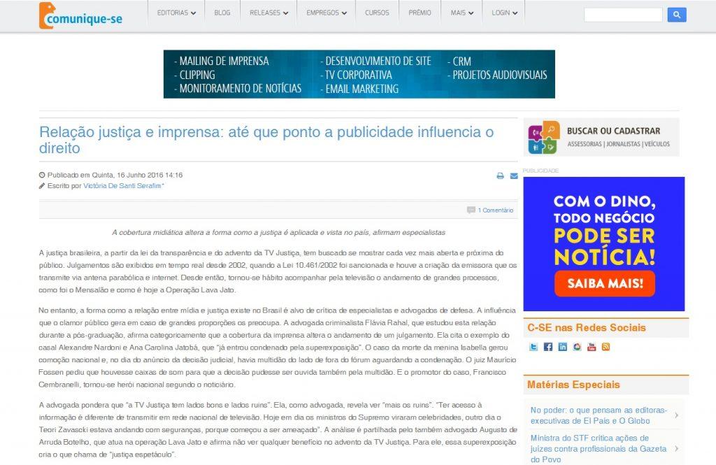 Matéria da aluna Victória De Santi Serafim. Disponível em http://bit.ly/297DMus